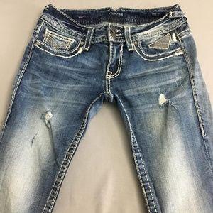 Distressed Vigoss Jean's- Chelsea skinny